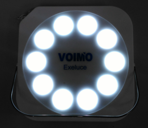 ソーラーパネル付きランプ LED点灯時の例