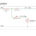 電気柵用オフグリッドソーラー電圧計BOX配線図