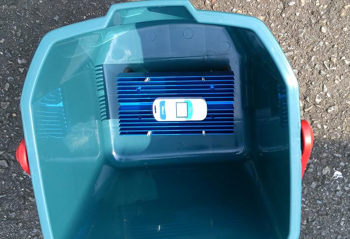 電気柵用バッテリーボックス温度試験