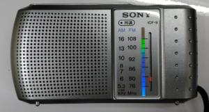 ソニー携帯型ラジオICF-9前
