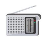 携帯型ラジオイラスト