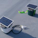 電気柵用オフグリッドソーラー温度試験の様子