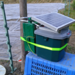 電気柵用オフグリッドソーラー設置状況