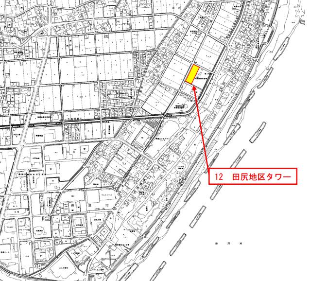 静岡県焼津市田尻地区地図
