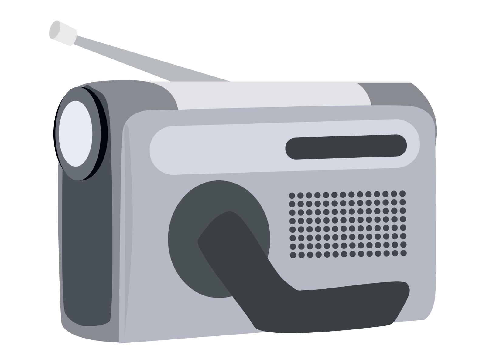 手回し発電機つきラジオ