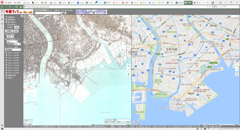 浦安1965年~1968年の地図