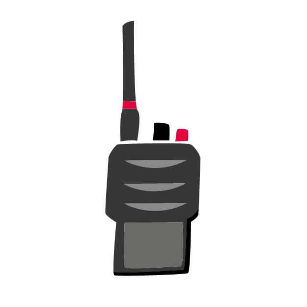 無線受信機イラスト