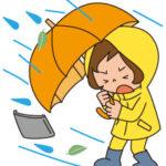 レインコート雨合羽の画像