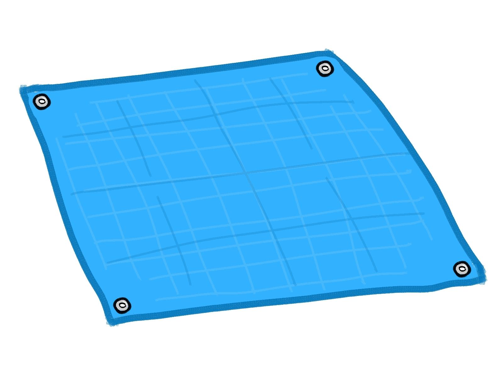 ブルー シート なぜ 青い