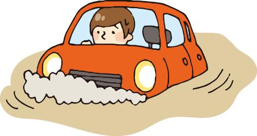 水害と車のイメージ